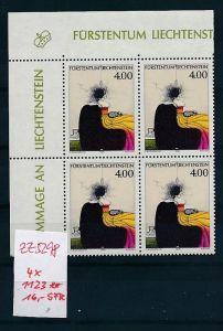 Liechtenstein  4er Eckrand Block **/MNH  1123 (zz5298  ) Discount unter ABO Preis !!!