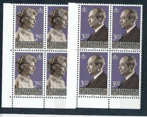 Liechtenstein  4er Eckrand Block **/MNH  828-9 (zz5341  ) Discount unter ABO Preis !!!