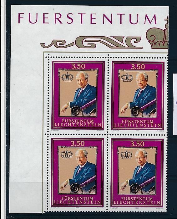 Liechtenstein  4er Eckrand Block **/MNH  903 (zz5342  ) Discount unter ABO Preis !!!