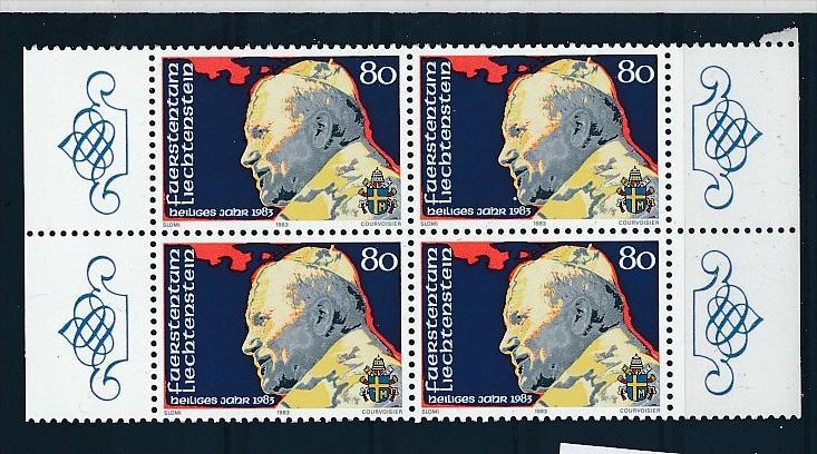 Liechtenstein  4er Eckrand Block **/MNH  830 (zz5343  ) Discount unter ABO Preis !!!