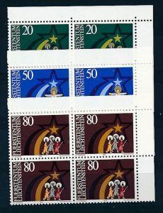 Liechtenstein  4er Eckrand Block **/MNH  831-3   (zz5345  ) Discount unter ABO Preis !!!