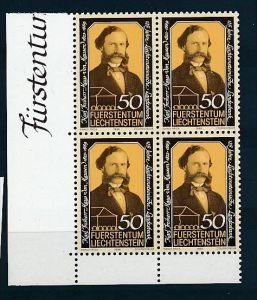 Liechtenstein  4er Eckrand Block **/MNH  902   (zz5346  ) Discount unter ABO Preis !!!