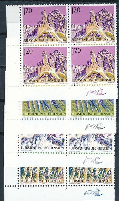 Liechtenstein  4er Eckrand Block **/MNH  1000-03 ( zz5349 ) DISCOUNT-unter ABO Preis !!
