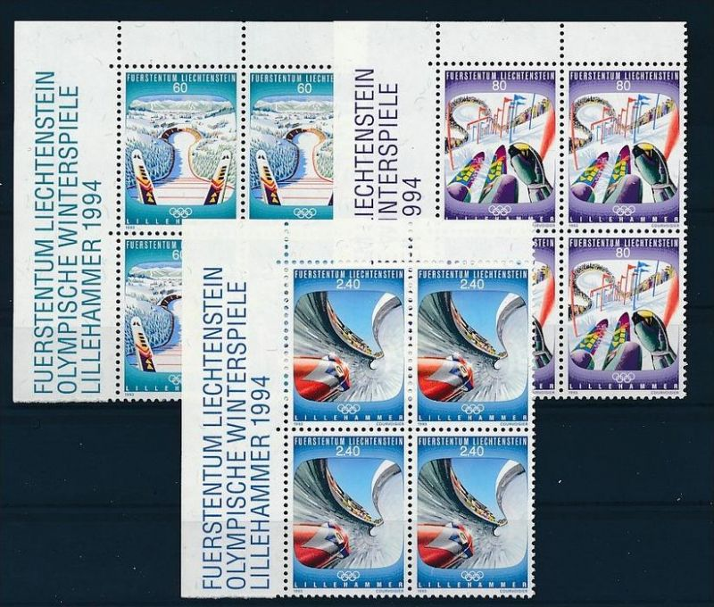 Liechtenstein  4er Eckrand Block **/MNH  1076-8 ( zz5351 ) DISCOUNT-unter ABO Preis !!