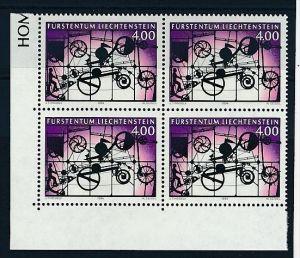 Liechtenstein  4er Eckrand Block **/MNH  1084  ( zz5357 ) DISCOUNT-unter ABO Preis !!