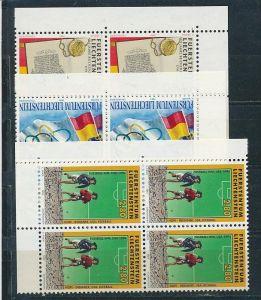 Liechtenstein  4er Eckrand Block **/MNH  1081-3  ( zz5359 ) DISCOUNT-unter ABO Preis !!