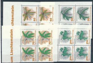 Liechtenstein  4er Eckrand Block **/MNH  1045-8 ( zz5361 ) DISCOUNT-unter ABO Preis !!