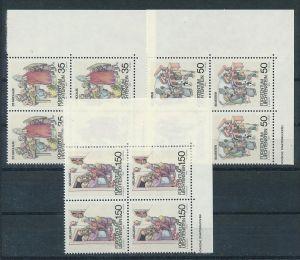 Liechtenstein  4er Eckrand Block **/MNH  1008-10 ( zz5362 ) DISCOUNT-unter ABO Preis !!