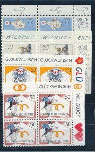 Liechtenstein  4er Eckrand Block **/MNH  1041-2 ( zz5365 ) DISCOUNT-unter ABO Preis !!