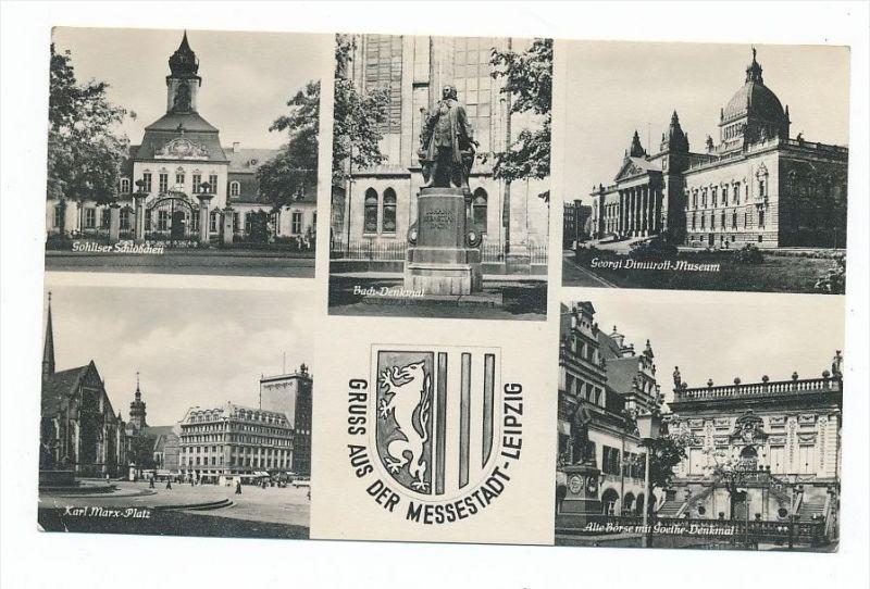 Leipzig -Karte aus DDR Zeit  (bc2780 ) siehe scan !
