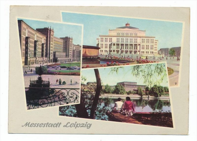 Leipzig  -Karte aus DDR Zeit  (bc2762 ) siehe scan !