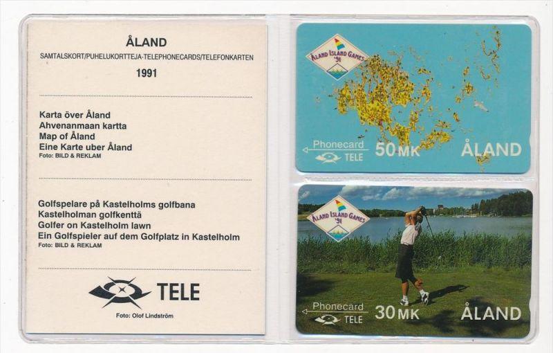 Aland- 2x Telefonkarte frisch orginal verpackt ( zz 5466 ) siehe Bild  !