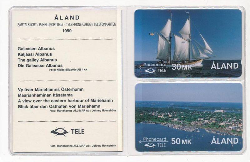 Aland- 2x Telefonkarte frisch orginal verpackt ( zz 5465 ) siehe Bild  !