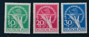 Berlin  Nr. 68-70  Währungsgeschädigte    ** (p3576 ) siehe scan !