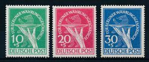 Berlin  Nr. 68-70  Währungsgeschädigte    ** (p3577 ) siehe scan !