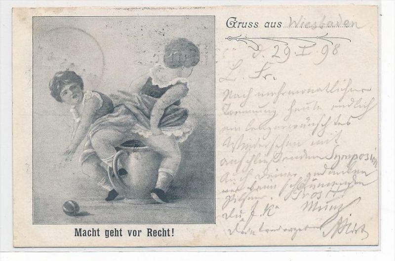 Wiesbaden Karte.Gruss Aus Wiesbaden Karte Da3003 über 100 Jahre Alt