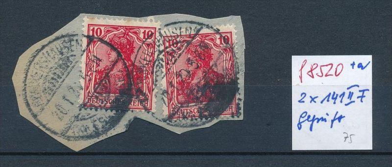 D.-Reich Nr. 2x 86 II f    -o  geprüft Infla Dr. Oechsner BPP  (f8520  )  siehe scan !