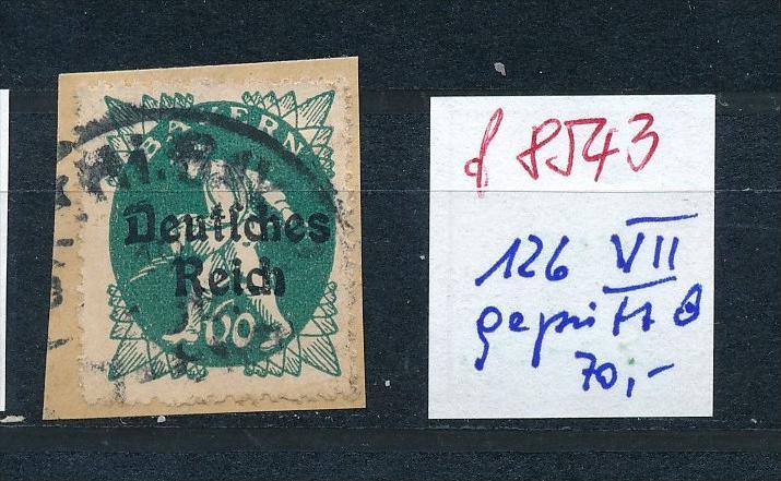 D.-Reich Nr. 126 VII  o  geprüft Infla Dr. Oechsner BPP  (f8543  )  siehe scan !