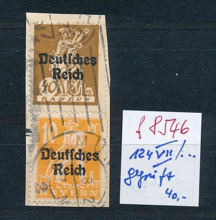 D.-Reich Nr. 124 VII o  geprüft Infla Dr. Oechsner BPP  (f8546  )  siehe scan !