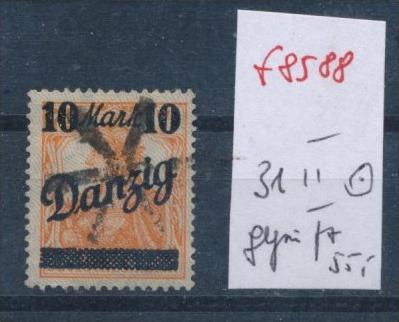 Danzig  Nr. 31 II    geprüft Infla/Dr.Oechsner BPP   o-used  (f8588 )  siehe scan  vergrößert !