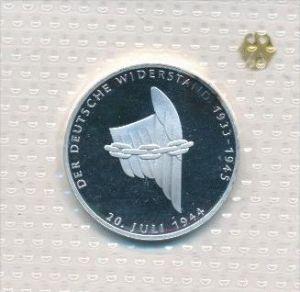 Deutschland  10,-D.-Mark Silber -1994 A Widerstand   (x1789 ) siehe scan !