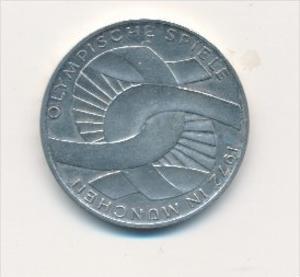 Deutschland  10,-D.-Mark Silber -1972 D  Olympia     (x1771 ) siehe scan !
