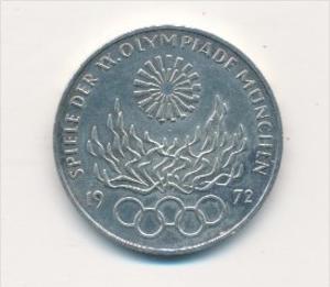 Deutschland  10,-D.-Mark Silber -1972 G  Olympia     (x1770 ) siehe scan !