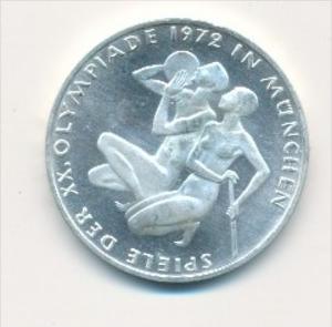 Deutschland  10,-D.-Mark Silber -1972 G  Olympia Sportler     (x1769 ) siehe scan !