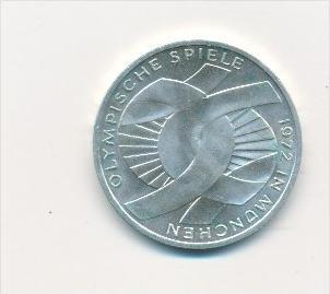 Deutschland  10,-D.-Mark Silber -1972 G  Olympia München  (x1764 ) siehe scan !