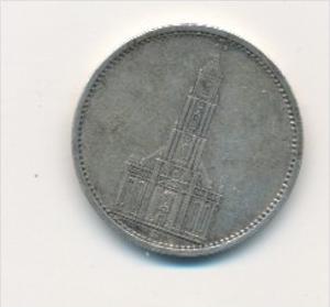 D.-Reich  5,-Mark Silber /kirche 1934 A   (x1781 ) siehe scan !