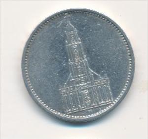 D.-Reich  5,-Mark Silber /kirche 1935  A   (x1785 ) siehe scan !