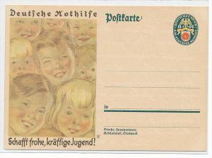 D.Reich Ganzsache  Nothilfe ( bc3339  ) siehe scan  !