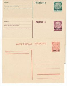 D.Reich Luxemburg Ganzsachen Lot ( bc3352  ) siehe scan  !