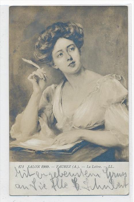 Thema  Frauen  -Karte über 100 Jahre alt  (da3664 ) siehe scan !!