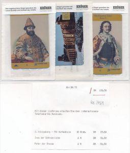 Telefonkarte Russland 3x  orginal verpackt  (bc 3469 ) siehe scan- aus Neuheiten ABO