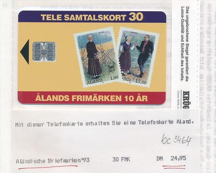 Telefonkarte  Aland  orginal verpackt  (bc 3464 ) siehe scan- aus Neuheiten ABO
