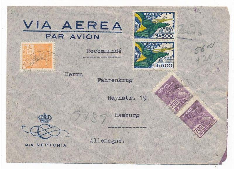 Brasilien Luftpost nach D  (zz5953 ) siehe scan  !