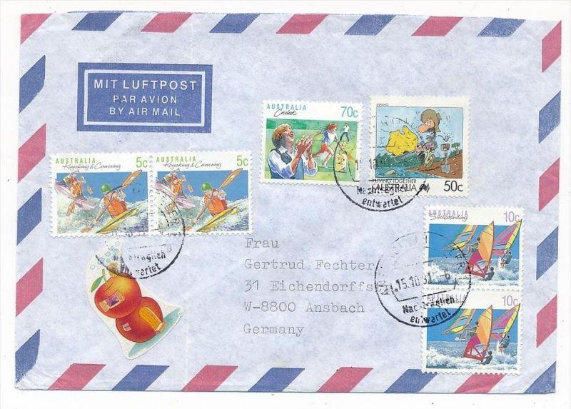 Australien Luftpost Brief   (zz5935 ) siehe scan  !