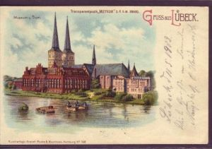Lübeck   -Karte- über 100 Jahre alt(da2323  ) siehe scan !