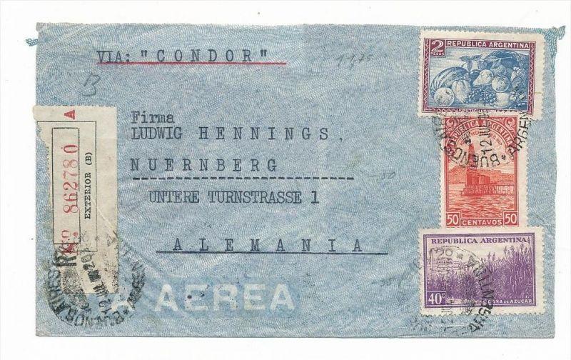Argentinien Luftpost  nach Europa  (zz5923 ) siehe scan !