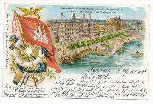 Hamburg  Litho -alte Karte   (bc3512   ) siehe scan  !