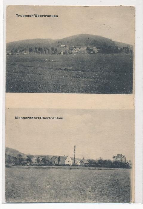 Truppoch/Mengersdorf Oberfranken  -alte Karte (da3948 ) siehe scan !