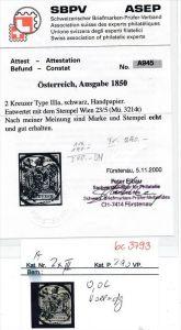 Österreich Nr. 2xIII  o -Attest (bc 3793 ) siehe scan !
