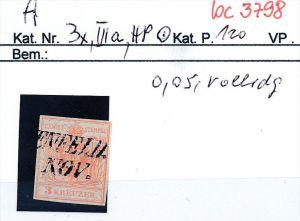Österreich Nr. 3 x.....bitte die Beschreibung auf der schweizer  Loskarte beachten !! (bc 3798 )