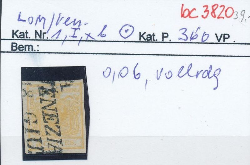 Österreich Nr. 1xb I .....bitte die Beschreibung auf der schweizer Händler Loskarte beachten !! (bc 3820 )