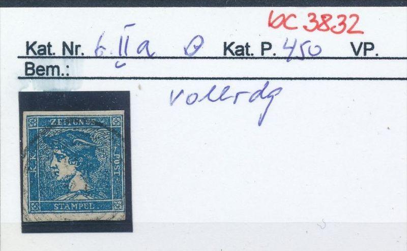 Österreich  Nr 6 II    .....bitte die Beschreibung auf der schweizer Händler Loskarte beachten !! (bc 3832 )