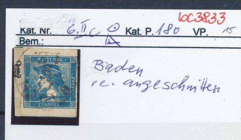 Österreich  Nr 6 II    .....bitte die Beschreibung auf der schweizer Händler Loskarte beachten !! (bc 3833 )