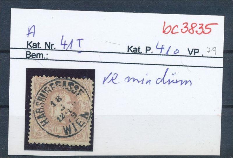 Österreich  Nr 41 I   .....bitte die Beschreibung auf der schweizer Händler Loskarte beachten !! (bc 3835 )