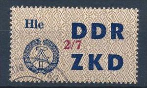 DDR ZKD Nr.  37 VII   amtlich ungültig gestempelt  (f9076  ) siehe scan  !