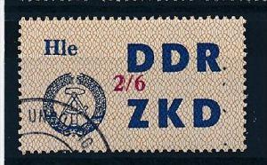 DDR ZKD Nr.  37 VI   amtlich ungültig gestempelt  (f9077  ) siehe scan  !